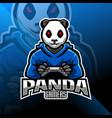panda gamers esport mascot logo vector image vector image