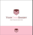 piece of cake logo for bakery or catering business vector image vector image