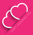 pink valentines day hearts background vector image vector image