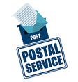 postal service design vector image vector image
