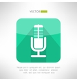 Radio station microphone icon in modern flat vector image vector image