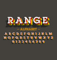 retro style 3d font vector image vector image