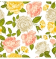 Roses seamless background vector image