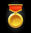 round gold medal for game vector image