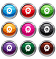 scary eyeball set 9 collection vector image vector image