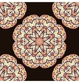 Seamless kaleidoscopic mandala unusual design vector image
