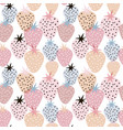 seamless pattern with creative strawberries hand vector image vector image