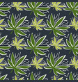seamless pattern with endless cannabis leaves on vector image vector image