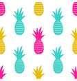 seamless pattern with pineapples cute summer vector image