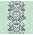 seamless turquoise frameborder in damask baroque vector image