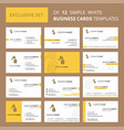 set of 12 honey creative busienss card template vector image