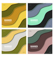 Set of modern art abstract banner square frame
