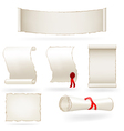 Set of old paper scrolls vector image vector image