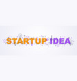 startup idea words with icons flat design vector image