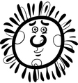 sun cartoon coloring page vector image vector image