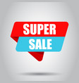 super sale banner badge icon business concept vector image