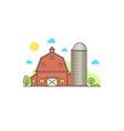 thin line american farm icon vector image vector image