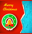 torn christmas colorful paper background vector image vector image