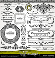 vintage style design elements vector image