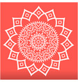white modern lotus mandala red background i vector image vector image