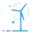 Wind generator Flat design style Windmill icon vector image