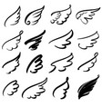 wings icon sketch collection cartoon hand drawn vector image vector image