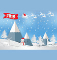 winter holiday snow and mountain background with vector image vector image