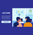 women listen lecture business training vector image vector image