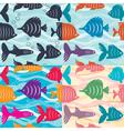 Seamless background aquarium fish vector image