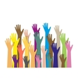 hands different colors cultural ethnic diversity vector image