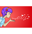 Love from cupid vector image