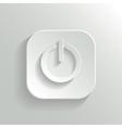 Power icon - white app button vector image