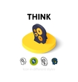Think icon in different style vector image