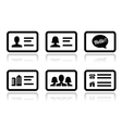 Business card icons set vector image