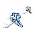 Moving hockey players vector