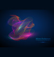abstract background flowing particle waves vector image vector image