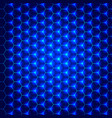 abstract blue hexagon pattern backdrop for design vector image vector image