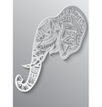 Abstract Indian ornamental elephant portrait on a vector image vector image
