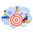 achieved business and personal goals concept vector image