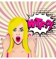 Angry young sexy blonde girl pop art vector image vector image