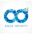 aqua infinity logo concept