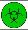 bio hazard symbol vector image vector image