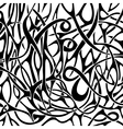 Black and white abstract pattern in tattoo style vector image vector image