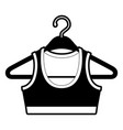 black sections silhouette shirt top for women in vector image vector image