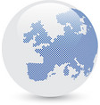 Blue and white abstract globe vector image
