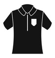 bowling polo shirt icon simple style vector image vector image