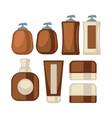brown-beige stylish bathroom beauty cosmetics vector image vector image