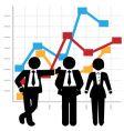 business people sales team vector image