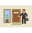 businessman and new business opened vector image