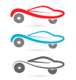 Cars silhouettes logo vector image